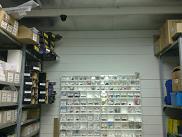 מצלמת אבטחה למחסן חלפים
