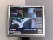 מסך לצפייה במצלמות אבטחה
